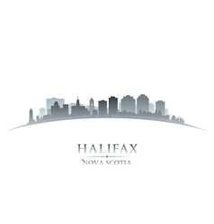 Halifax nova scotia canada city skyline silhouette vector