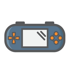 handheld game console colorful line icon vector image