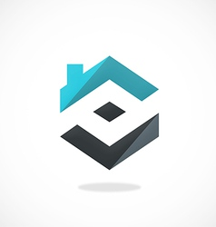 home realty construction logo vector image vector image