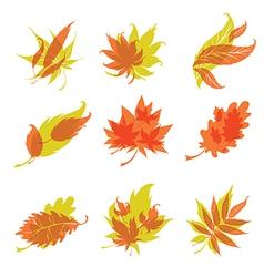 icon leafs 3 vector image vector image