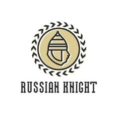 Knight head armor helmet face vector image vector image