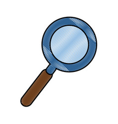 Magnifying glass object vector