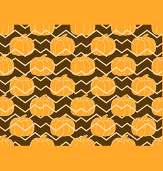 pumpkins seamless pattern autumn background vector image vector image