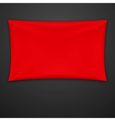 Red Textile Banner vector image vector image