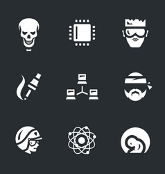 Set of artificial intelligence icons vector