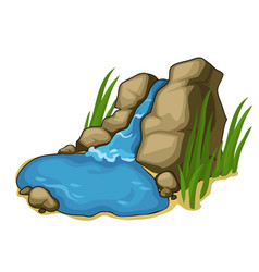 Small lake with a beautiful waterfall vector
