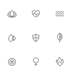 spa beauty relaxing icons vector image