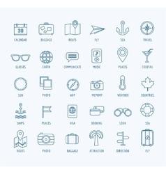 Travel logo icons set sea travel or vector