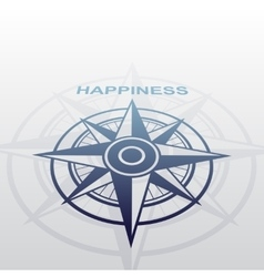Wind rose with happiness vector