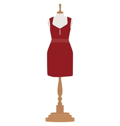 Woman dress on mannequin vector image vector image