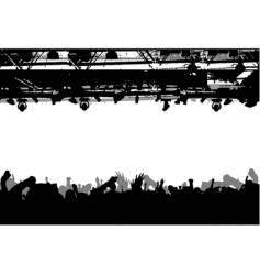 Show crowd silhouette vector