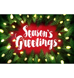 Seasons greetings christmas greeting card vector
