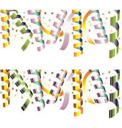 Holiday streamers vector