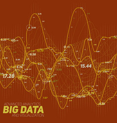 Big data line graph red vector