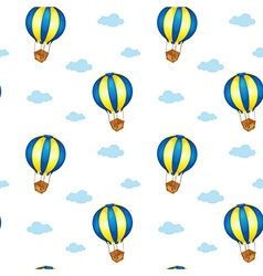 A seamless design with big floating balloons vector