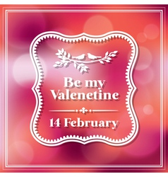 Valentine and wedding card bokeh background vector