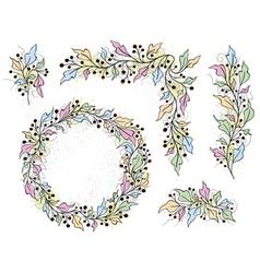 Set of decorative elements vector