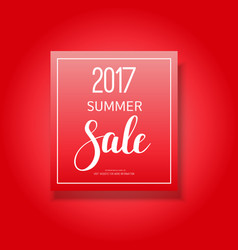 2017 summer sale banner vector image vector image