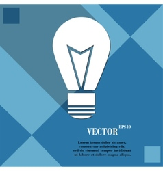 Light lamp icon symbol flat modern web design with vector