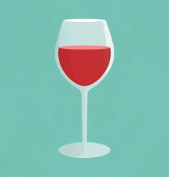 Glass of red wine vector