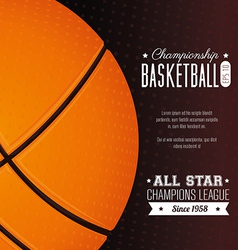 Basketball design vector