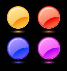 set of glossy circles vector image