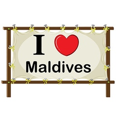 Maldives vector