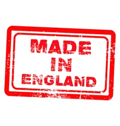 Made in england red grunge stamp vector