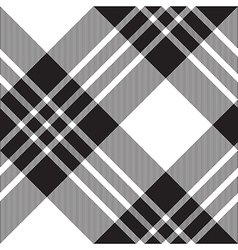 Macgregor tartan black white diagonal seamless vector