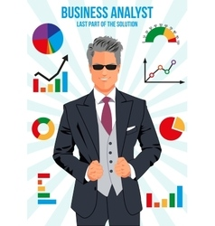 Confident business analyst vector