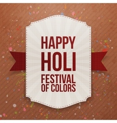 Holi indian festival colorful banner vector
