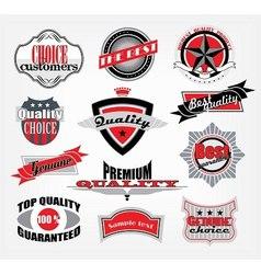 retro style emblems vector image