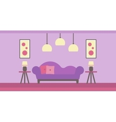 Background of modern living room vector