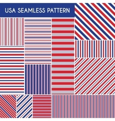 Patriotic red white blue geometric seamless vector