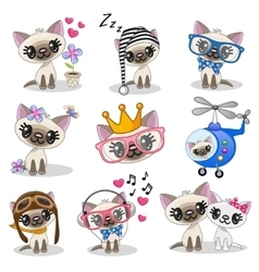Cute anime kitten vector image