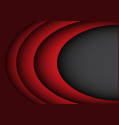 abstract red curve overlap on black design vector image