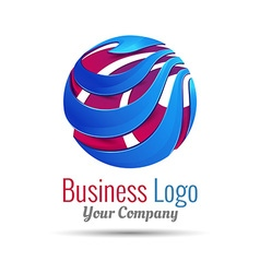 Abstract sign in sphere shape logo for business vector