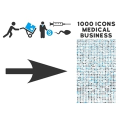 Arrow axis x icon with 1000 medical business vector