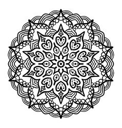 Black Mandala for Coloring vector image vector image