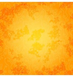 Bright orange seamless spotty pattern vector image