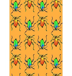 Bug orange pattern vector image vector image