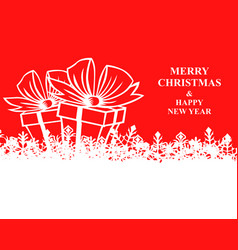 christmas banner with snowflakes and gifts vector image