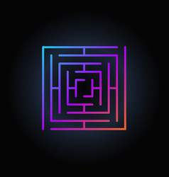 colorful square labyrinth icon vector image vector image