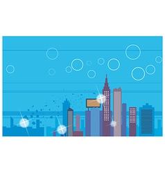 Creative Cityscape Scene vector image