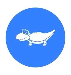 Crocodile black icon for web and vector image vector image