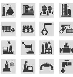 Different types of industrial construction - vector