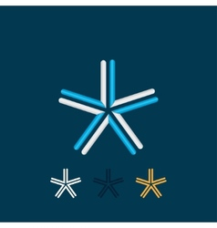 Five-pointed star vector