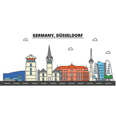 germany dusseldorf city skyline architecture vector image