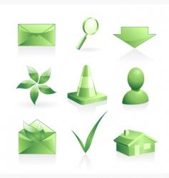 green symbols set vector image vector image