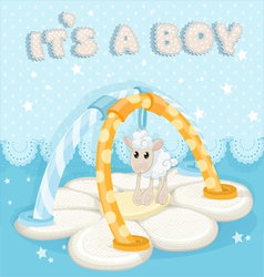 Greeting card with a childrens rug is a boy vector image vector image